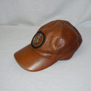 VTG REAL MADRID Leather Baseball Cap Metal logo